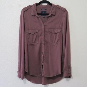 AEO Military Button Down Shirt